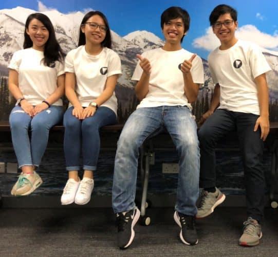 「科和」團隊,左起,曾皓筠,林津瑜,陳棨豪及陳智軒